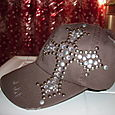 Studded tattered Choc. Brown Cap